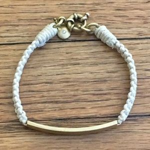 J.Crew | Cream/White Rope Friendship Bracelet Gold